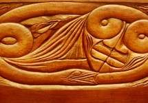 Existence, wooden bed panel