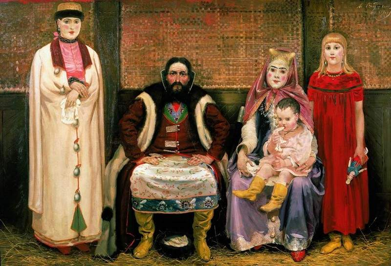 Family of merchant in XVII century 1896