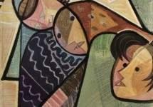 Fisherwoman, tapestry