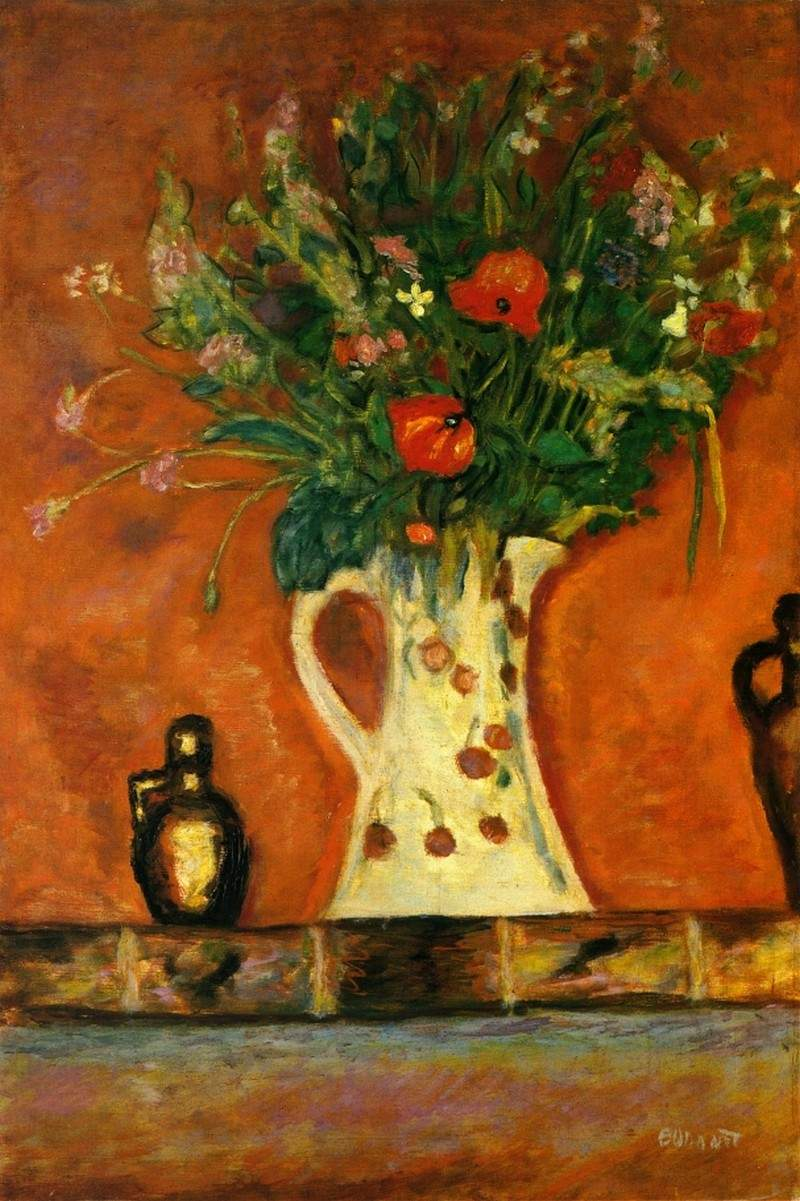 Flowers on a Mantlepiece 1913