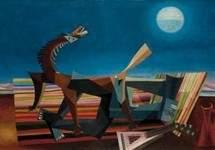 Hommage au Douanier Rousseau, le reve de la bohemienne endormie 1957