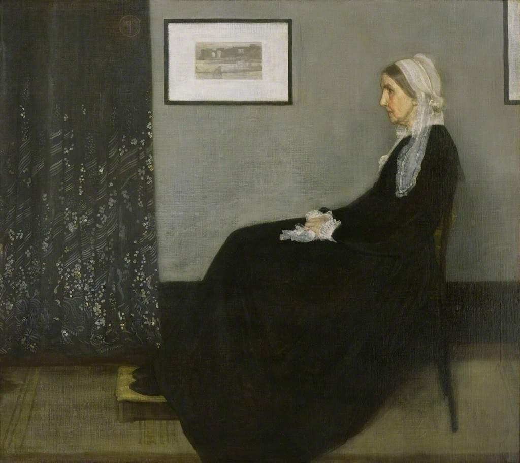 Аранжировка в сером и чёрном. Мать художника, 1871
