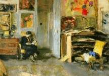 Madame Losse Hessel in Vuillard's Studio 1915
