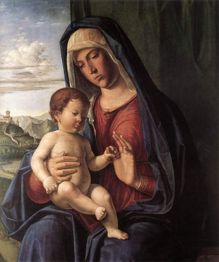 """""""Мадонны с младенцем"""" 1504"""