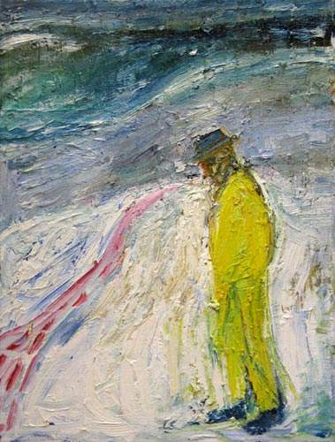 Man Walking in Snow 1999