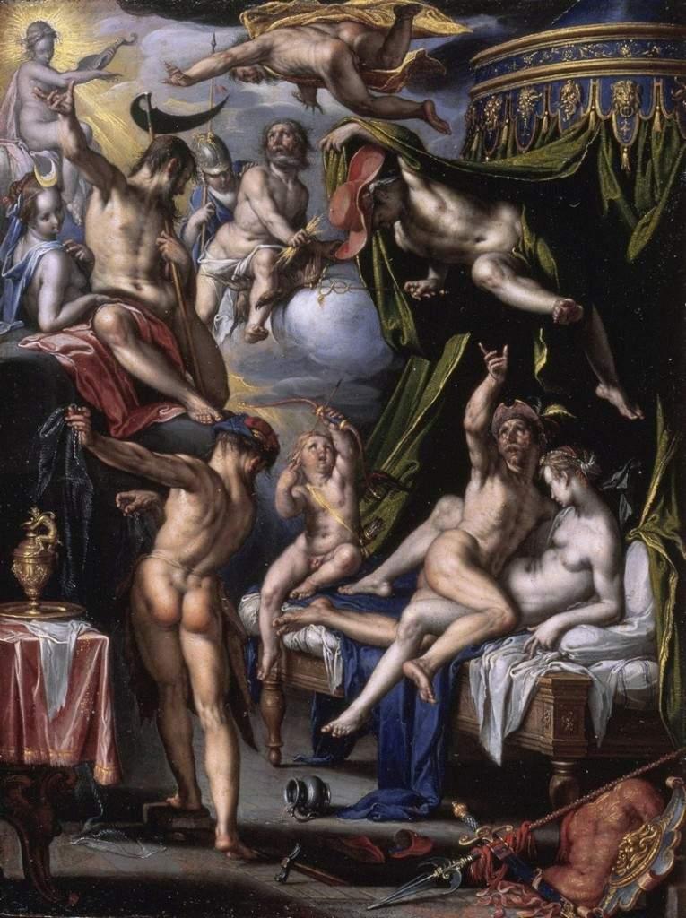 «Марс и Венера в любовной игре, застигнутые мужем Венеры Вулканом» 1601