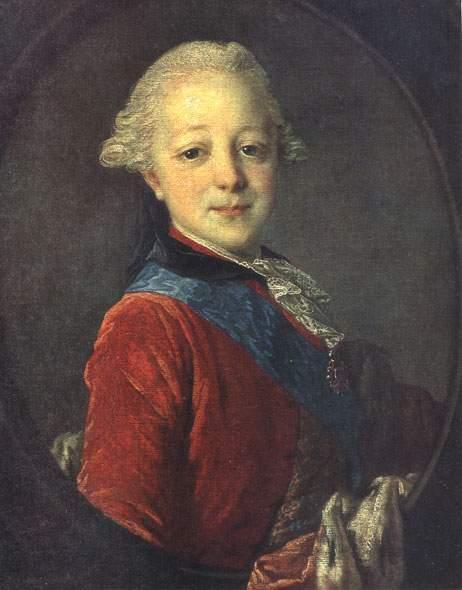 Портрет великого князя Павла Петровича в детстве. 1761