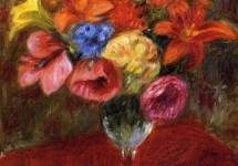Poppies, Lilies and Blue Flowers 1915