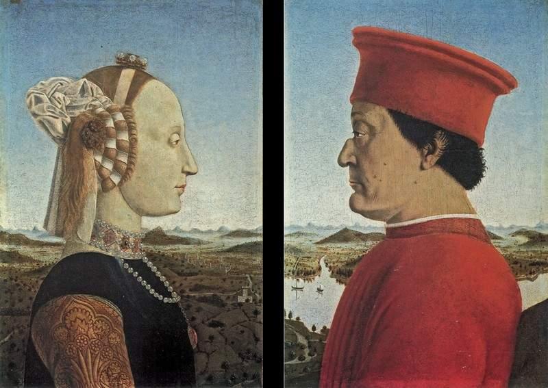 portraits-federico-da-montefeltro-and-battista-sforza-1465