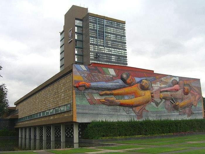 Композиция на здании ректората в университетском городке, Мехико, 1952-1956