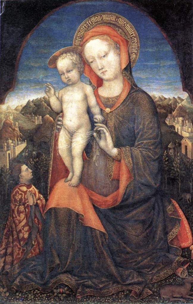 Мадонна с младенцем и преклоняющимся Леонелло д'Эсте