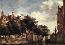 The Martelaarsgracht in Amsterdam 1670