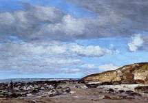 Trouville, Shore and Rocks 1862