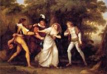 Valentine Rescues Silvia in 'The Two Gentlemen of Verona' 1789