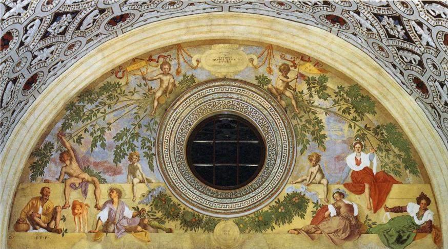 """«Вертумн и Помона» (""""Аллегория Осени"""") 1520—1521"""