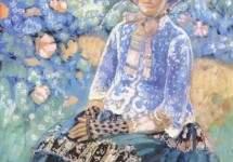 Женщина в голубом платье 1903