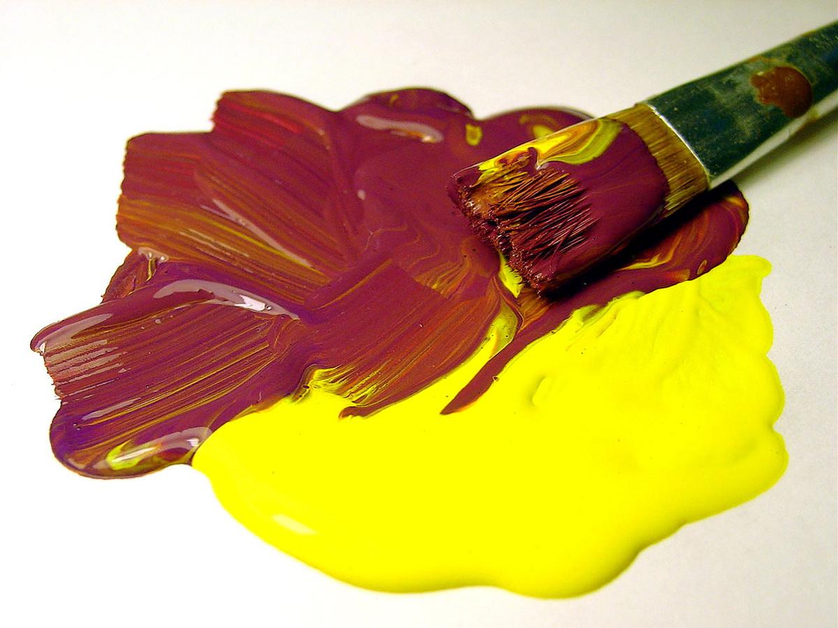 Масляные краски кисть