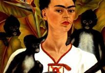 Автопортрет с обезьянками