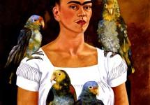 Автопортрет с попугаями