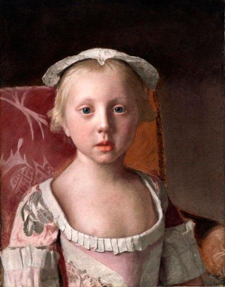 Жан-Этьенн Лиотар. «Принцесса Луиза Анна», 1754, 40*30 см.