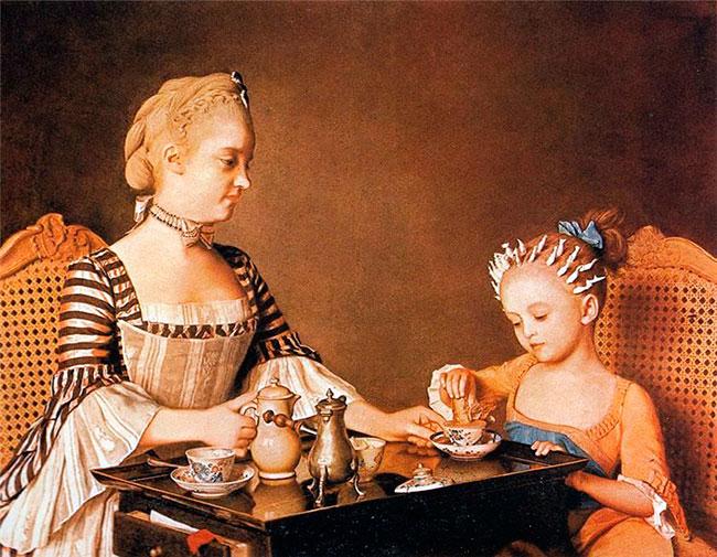 Жан-Этьенн Лиотар. «Мадам Лиотард с дочерью»