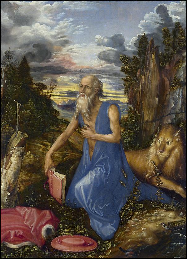 Альбрехт Дюрер «Святой Иероним». 1496 год. Национальная галерея, Лондон.