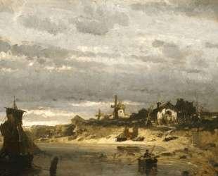 Village on a Dutch Coast — Константинос Воланакис