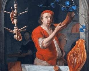 A Baker Blowing his Horn — Габриель Метсю