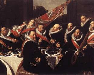 A Banquet of the Officers of the St. George Militia Company — Франс Халс