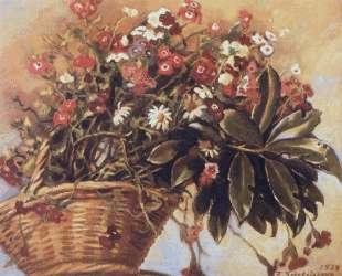 Корзина с цветами — Зинаида Серебрякова