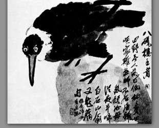 A bird with a white neck — Ци Байши