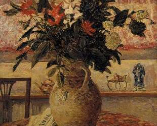 A Bouquet of Flowers in Front of a Window — Максим Мофра