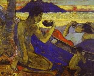 Каноэ (Таитянская семья) — Поль Гоген