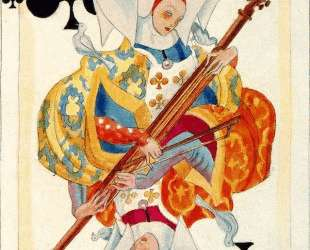 A color sketch of a card. Heraclius Fournier. — Карлос Саенс де Техада
