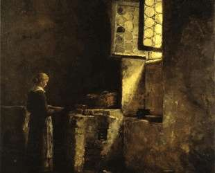 A Corner in the Old Kitchen of the Mittenheim Cloister — Теодор Клемент Стил