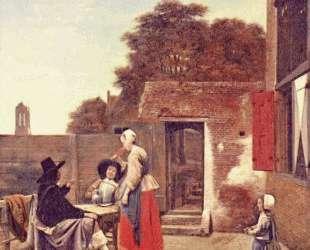 A Dutch Courtyard — Питер де Хох