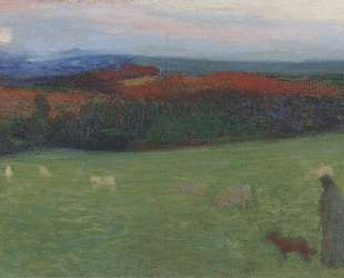 A Field with Figure — Анри Мартен