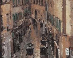 Улица во Флоренции в дождь — Константин Коровин