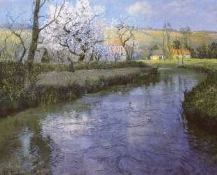 A French River Landscape — Фриц Таулов