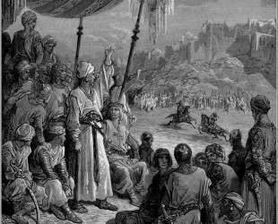 Товарищеский турнир во время Третьего Крестового Похода в 1189 г. — Гюстав Доре