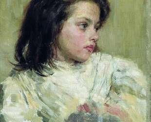 Голова девочки — Борис Кустодиев