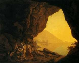 A Grotto in the Kingdom of Naples, with Banditti — Джозеф Райт