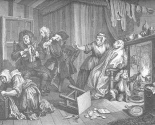 A Harlot's Progress, plate 5 — Уильям Хогарт