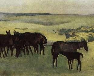 Табун лошадей — Зинаида Серебрякова