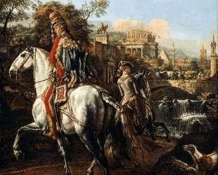 A Hussar on horseback — Бернардо Беллотто