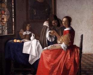A Lady and Two Gentlemen — Ян Вермеер