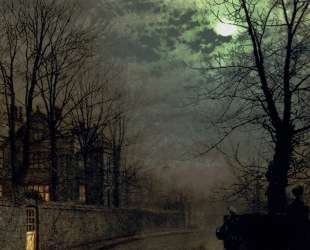 A Lane In Headingley, Leeds — Джон Эткинсон Гримшоу