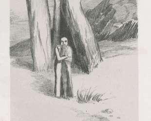 A madman in a dismal landscape — Одилон Редон