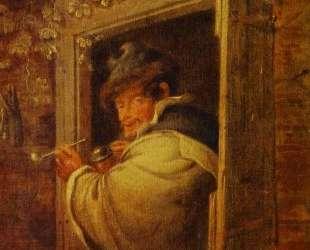 A Man in the Window — Адриан ван Остаде