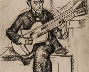 Мужчина с гитарой — Пётр Кончаловский
